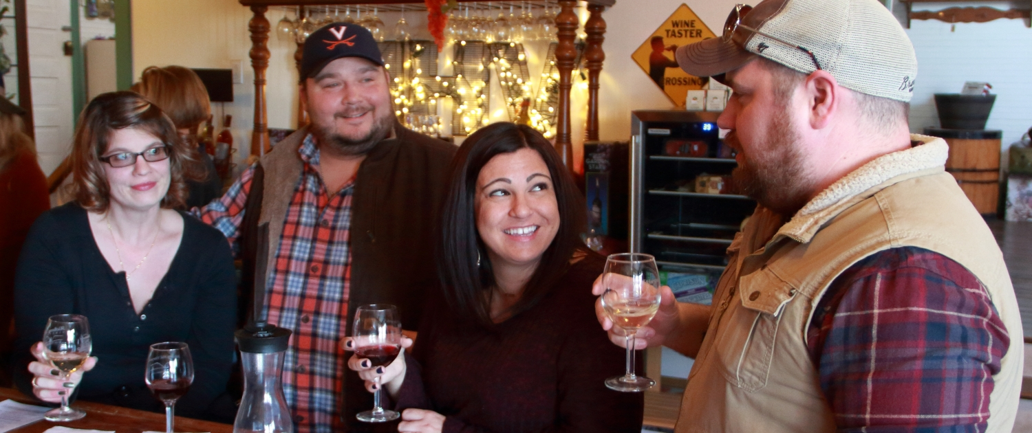 Wine tasting at Hickory Hill