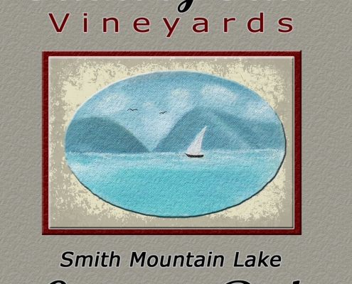 Country Red cropped label