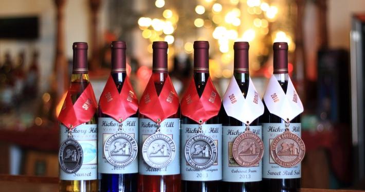 Hickory Hill award winning wines
