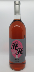 Pictured is a bottle of Rosé wine